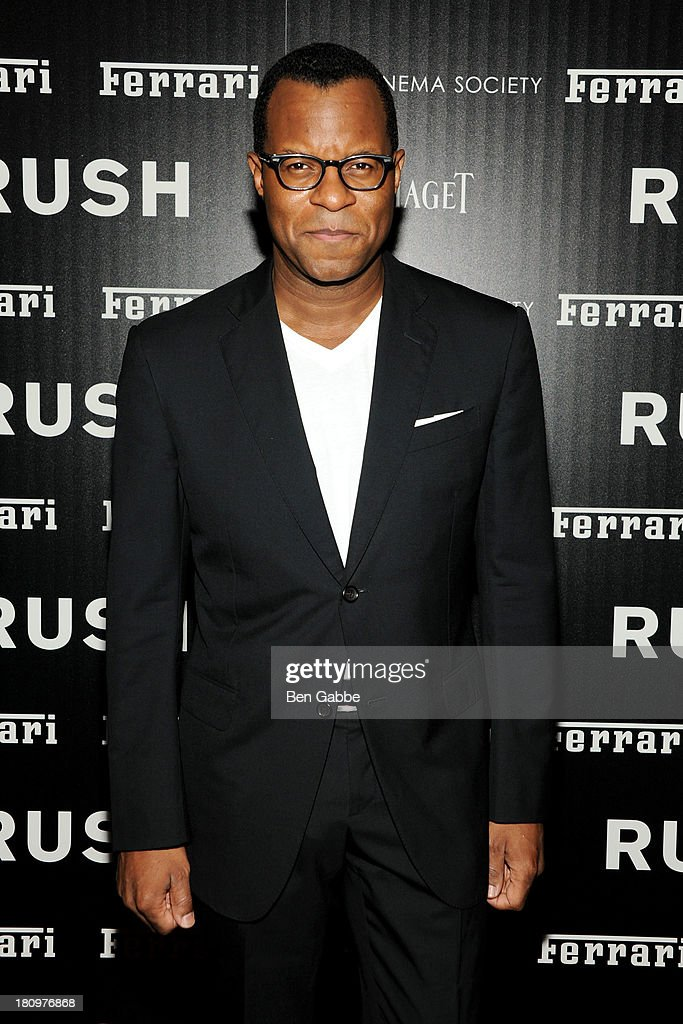 Jeffrey Fletcher attends the Ferrari & The Cinema Society screening of 'Rush' at Chelsea Clearview Cinemas on September 18, 2013 in New York City.