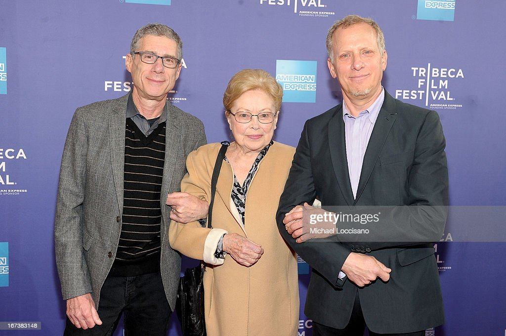 Jeffrey Friedman, amfAR Founding Chairman Dr. Mathilde Krim and Rob Epstein attend HBO's 'The Battle of amfAR' premiere at Tribeca Film Festival on April 24, 2013 in New York City.