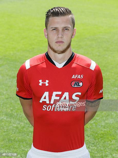 Jeffrey Gouweleeuw during the team presentation of AZ Alkmaar on July 17 2015 at Afas Stadium in Alkmaar The Netherlands