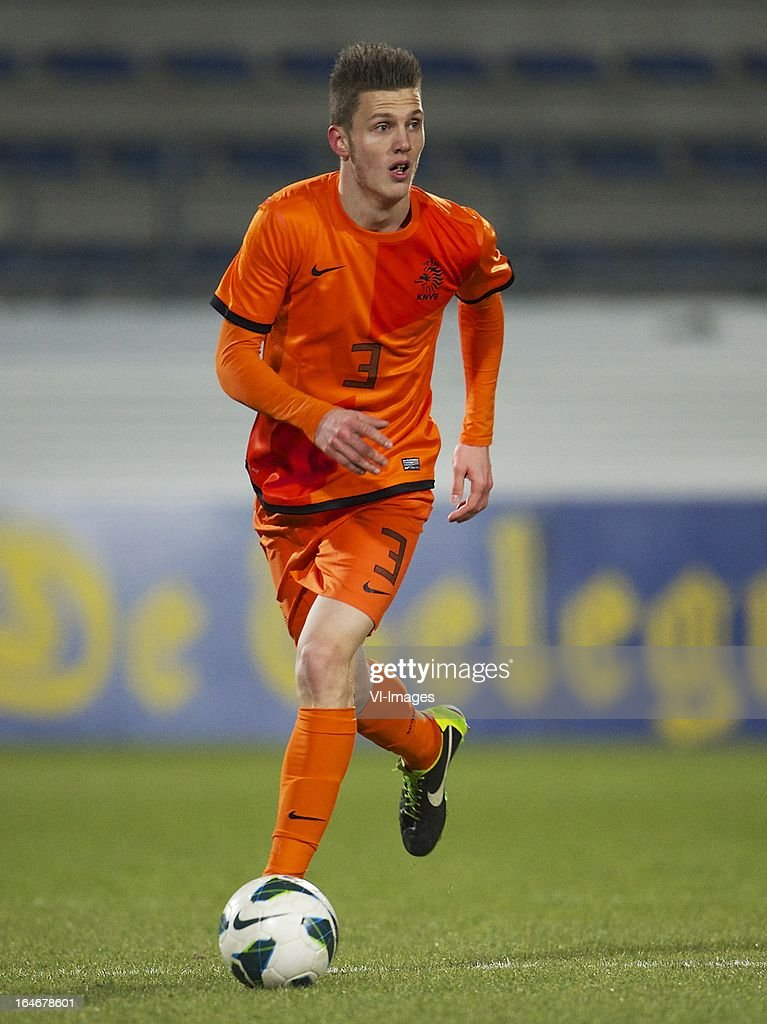 Jeffrey Gouweleeuw of Holland U21 during the friendly match between the Netherlands U21 and Norway U21 at the Mandemakers Stadium on march 25, 2013 in Waalwijk, The Netherlands
