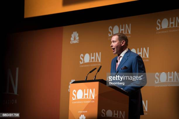 Jeffrey Gundlach chief executive officer and chief investment officer of DoubleLine Capital LP speaks during the 22nd annual Sohn Investment...