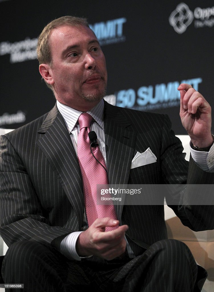 Jeffrey Gundlach, chief executive officer of DoubleLine Capital LP, speaks at the Bloomberg Markets 50 Summit in New York, U.S., on Thursday, Sept. 13, 2012. The conference brings together the world's most influential leaders in finance, business and government to discuss the global economy. Photographer: Jin Lee/Bloomberg via Getty Images