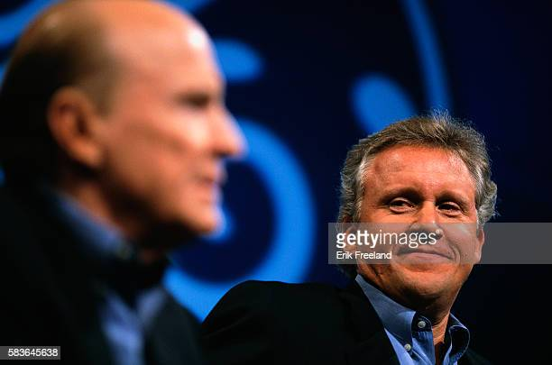 Jeffrey Immelt attends a press conference in New York with John 'Jack' Welch chairman and chief executive officer of General Electric Corporation The...