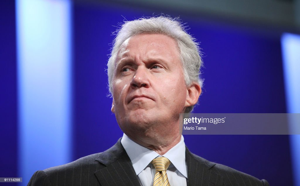 <a gi-track='captionPersonalityLinkClicked' href=/galleries/search?phrase=Jeffrey+Immelt&family=editorial&specificpeople=605437 ng-click='$event.stopPropagation()'>Jeffrey Immelt</a>, Chairman and CEO of General Electric, appears on a panel at the Clinton Global Initiative (CGI) on September 24, 2009 in New York City. The Fifth Annual Meeting of the Clinton Global Initiative (CGI) looks to gather prominent individuals in politics, business, science, academics and religion to discuss global issues such as climate change and peace in the Middle East. The event, founded by former president Bill Clinton after he left office, is held the same week as the General Assembly at the United Nations as most world leaders are in New York.