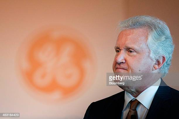 Jeffrey Immelt chairman and chief executive officer of General Electric Co pauses during opening remarks at a forum on African energy and innovation...