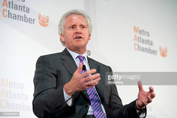Jeffrey Immelt chief executive officer of General Electric Co speaks at the Metro Atlanta Chamber of Commerce 'Insights on Leadership Breakfast' in...