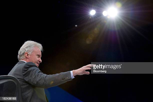 Jeffrey 'Jeff' Immelt chairman and chief executive officer of General Electric Co gestures as he speaks during a keynote address at the DreamForce...