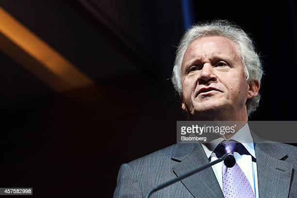 Jeffrey 'Jeff' Immelt chairman and chief executive officer of General Electric Co speaks during the opening of the company's iCenter facility in...