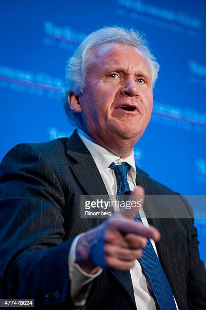 Jeffrey 'Jeff' Immelt chairman and chief executive officer of General Electric Co speaks at the Economic Club of Washington in Washington DC US on...