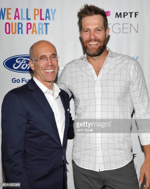 Jeffrey Katzenberg and Actor Geoff Stults attend MPTF's NextGen Summer Party presented by Ford Motor Company and hosted by Jeffrey Katzenberg at...