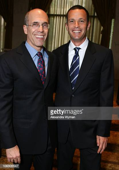 Jeffrey Katzenberg and Jay Sures during 2007 Taste for a Cure at Beverly Wilshire Hotel in Beverly Hills California United States