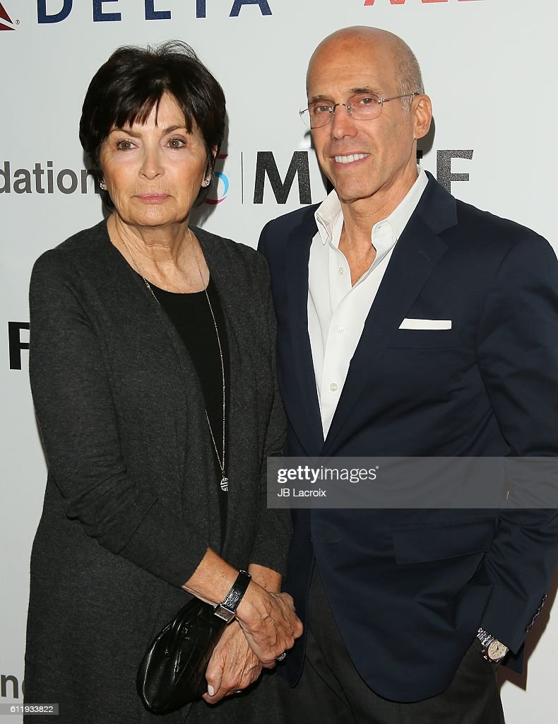 Jeffrey Katzenberg and Marilyn Katzenberg attend the MPTF 95th anniversary celebration with 'Hollywood's Night Under The Stars' at MPTF Wasserman Campus on October 1, 2016 in Los Angeles, California.