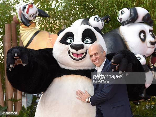 Jeffrey Katzenberg arrives for the European premiere of 'Kung Fu Panda 3' at Odeon Leicester Square on March 6 2016 in London England