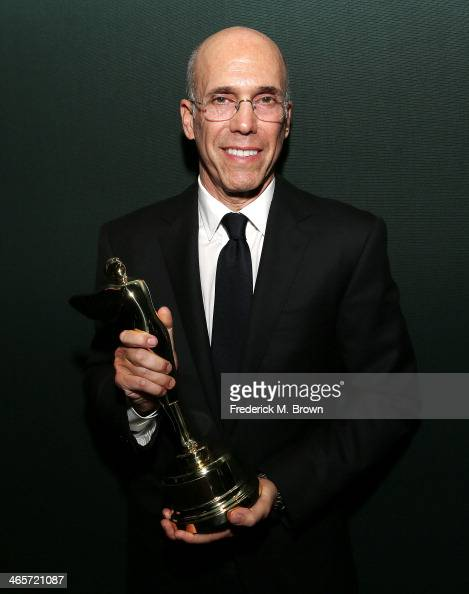 Jeffrey Katzenberg CEO of DreamWorks Animation is honored with the Harold Lloyd Award during the 2014 International 3D and Advanced Imaging Society's...