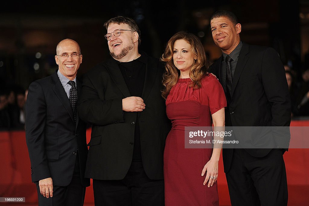 <a gi-track='captionPersonalityLinkClicked' href=/galleries/search?phrase=Jeffrey+Katzenberg&family=editorial&specificpeople=171496 ng-click='$event.stopPropagation()'>Jeffrey Katzenberg</a>, executive producer <a gi-track='captionPersonalityLinkClicked' href=/galleries/search?phrase=Guillermo+del+Toro&family=editorial&specificpeople=609181 ng-click='$event.stopPropagation()'>Guillermo del Toro</a>, producer Christina Steinberg and director Peter Ramsey attend 'Rise Of The Guardians' Premiere attend 'Rise Of The Guardians' Premiere during The 7th Rome Film Festival on November 13, 2012 in Rome, Italy.