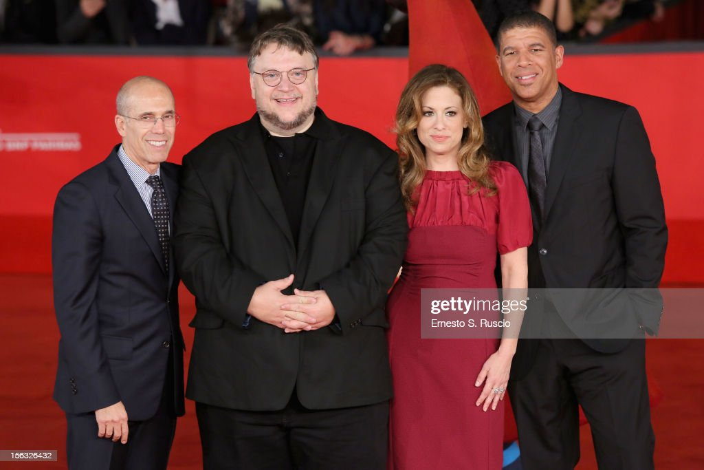 <a gi-track='captionPersonalityLinkClicked' href=/galleries/search?phrase=Jeffrey+Katzenberg&family=editorial&specificpeople=171496 ng-click='$event.stopPropagation()'>Jeffrey Katzenberg</a>, <a gi-track='captionPersonalityLinkClicked' href=/galleries/search?phrase=Guillermo+del+Toro&family=editorial&specificpeople=609181 ng-click='$event.stopPropagation()'>Guillermo del Toro</a>, Christina Steinberg and Peter Ramsey attend the 'Rise Of The Guardians' Premiere during the 7th Rome Film Festival at Auditorium Parco Della Musica on November 13, 2012 in Rome, Italy.