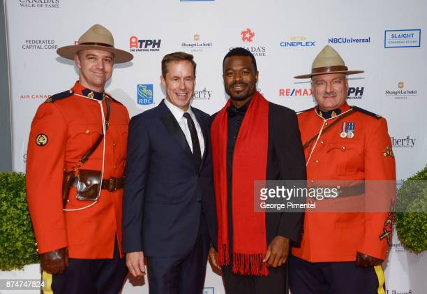 Jeffrey Latimer and Lyric Bent attend 2017 Canada's Walk of Fame at The Liberty Grand on November 15 2017 in Toronto Canada