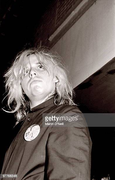 Jeffrey Lee Pierce from The Gun Club performs live on stage in Manchester in 1984