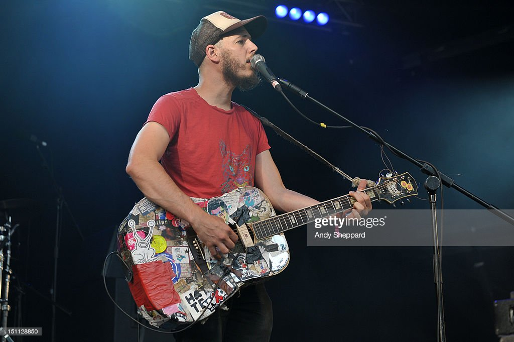 Jeffrey Lewis of Jeffrey Lewis & The Junkyard performs on stage during End Of The Road Festival 2012 at Larmer Tree Gardens on September 1, 2012 in Salisbury, United Kingdom.