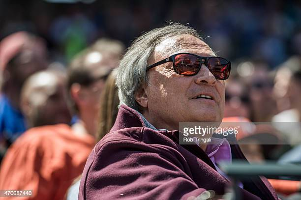 Jeffrey Loria owner of the Miami Marlins looks on during the game against the New York Mets at Citi Field on April 19 2015 in the Queens borough of...