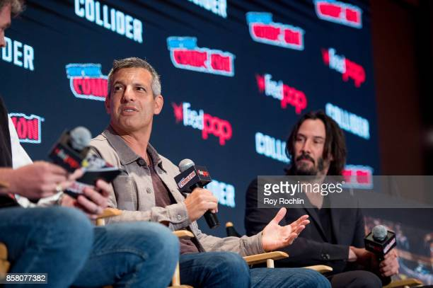 Jeffrey Nachmanoff and Keanu Reeves discuss 'Replicas' during 2017 New York Comic Con Day 1 on October 5 2017 in New York City
