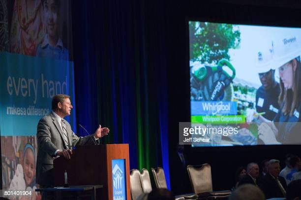 D Jeffrey Noel Corporate VP Communications Public Affairs of Whirlpool Corporation at the Habitat Hero Award Dinner held June 13 2017 at the Loews...