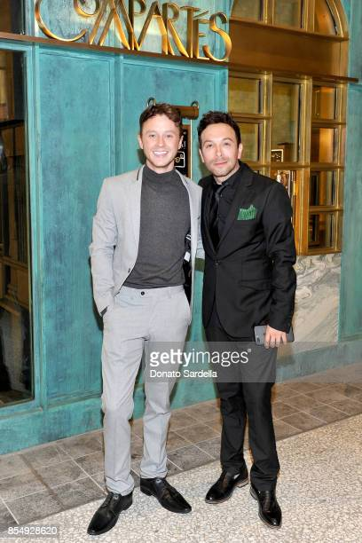 Jeffrey Postlethwaite and Jonathan Grahm celebrate the Compartes Chocolatier Century City Flagship Store Opening on September 27 2017 in Los Angeles...