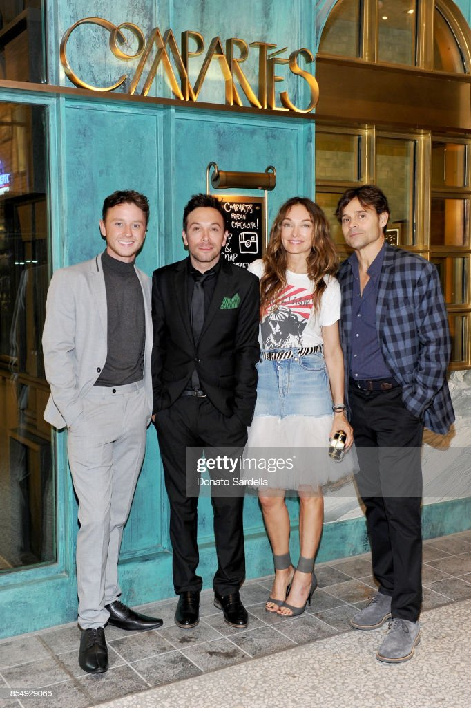 Jeffrey Postlethwaite, Jonathan Grahm, Kelly Wearstler, and Brad Korzen celebrate the Compartes Chocolatier Century City Flagship Store Opening on September 27, 2017 in Los Angeles, California.