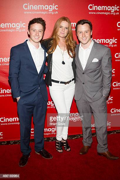 Jeffrey Postlethwaite Patsy Palmer and Mathew Postlethwaite attend the 25th Annual Cinemagic International Film and Television Festival in...