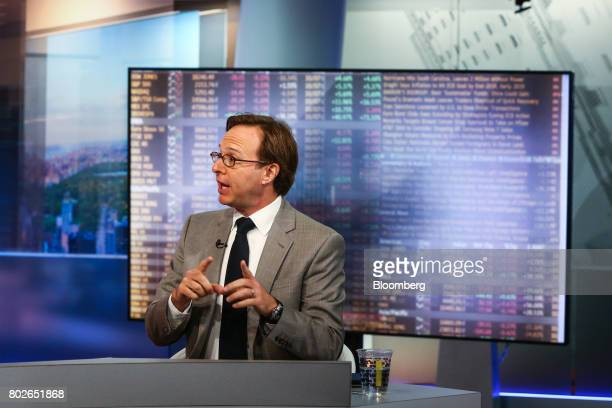 Jeffrey Rosenberg managing director and chief fixed income strategist at BlackRock Financial Management Inc speaks during a Bloomberg Television...