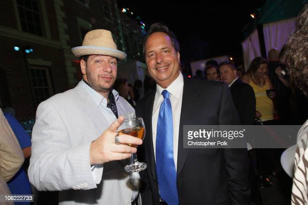 Jeffrey Ross and Jon Lovitz at Comedy Central's Roast of Bob Saget after party at Warner Bros Studios in Burbank CA on August 3 2008