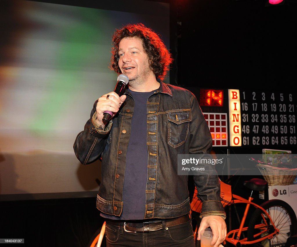 Jeffrey Ross calls bingo at Bingo At The Roxy to Benefit The Painted Turtle at The Roxy Theatre on October 10, 2013 in West Hollywood, California.