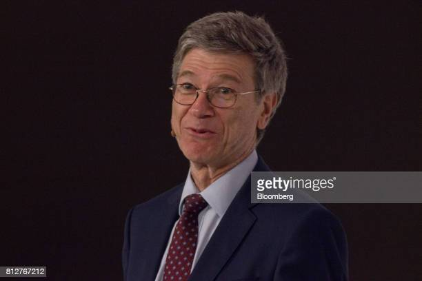 Jeffrey Sachs director of the Earth Institute at Columbia University speaks during the World Coffee Producers Forum in Medellin Colombia on Tuesday...