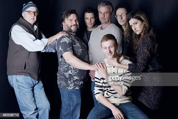 Jeffrey Tambor Jack Black James Marsden Andrew Mogel Russell Posner Jarrad Paul and Kathryn Hahn from 'DTrain' pose for a portrait at the Village at...