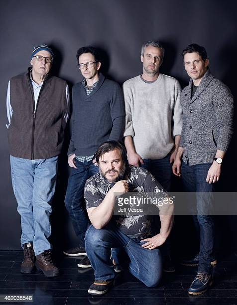 Jeffrey Tambor Jarrad Paul Jack Black Andrew Mogel and James Marsden from 'DTrain' pose for a portrait at the Village at the Lift Presented by...