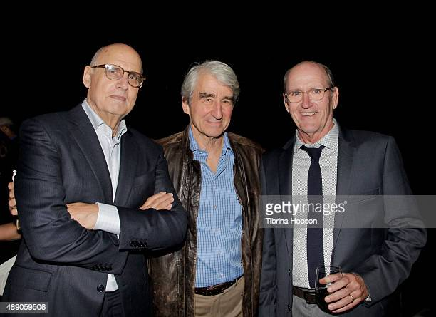 Jeffrey Tambor Sam Waterston and Richard Jenkins attend the Gersh Emmy nominees celebration on September 18 2015 in Beverly Hills California