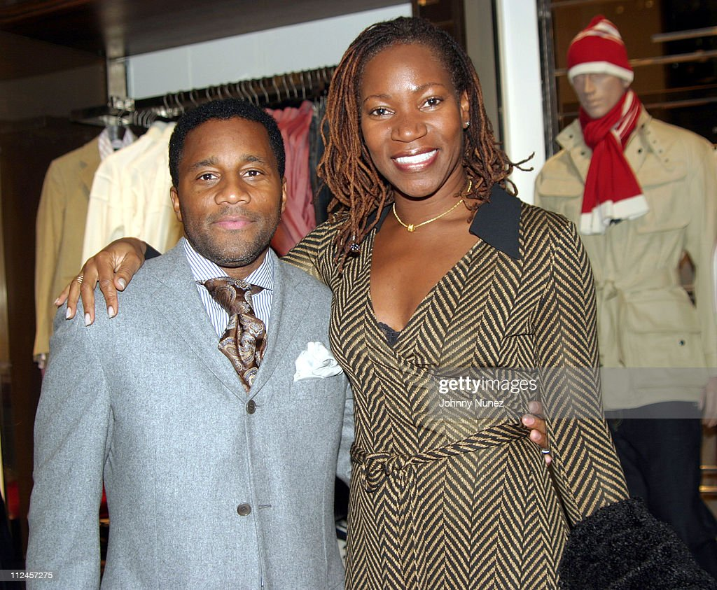 Jeffrey Tweedy and Carol Watson of VIBE during Sean John Celebrates the Launch of Sean John Collection and Sean John Tailoring at Sean John Store 5th Store in New York City, New York, United States.