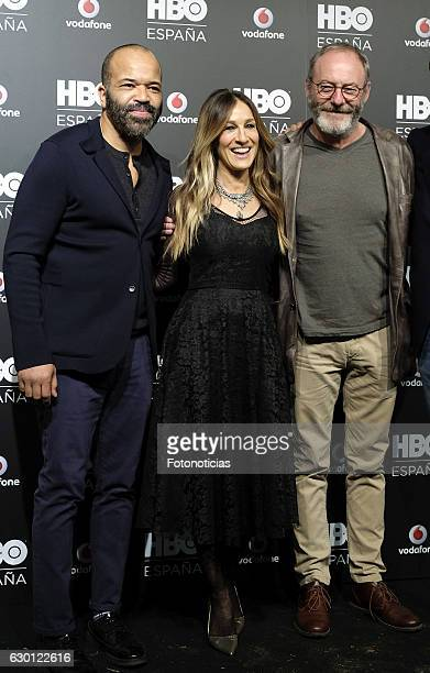 Jeffrey Wright Sarah Jessica Parker and Liam Cunningham attend the HBO Spain PresentationPremiere at Florida Retiro on December 16 2016 in Madrid...