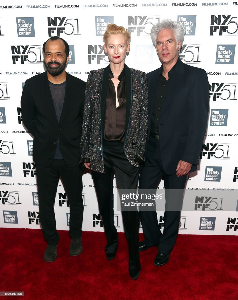 51st new york film festival jeffrey wright tilda swinton and jim jarmusch attend the only lovers left alive sciox Image collections