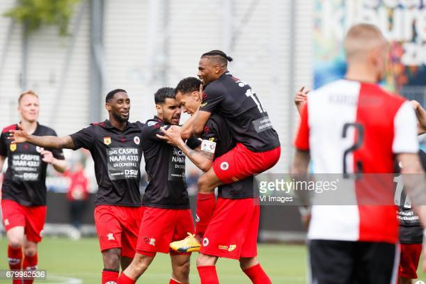 Jeffry Fortes of Excelsior Khalid Karami of Excelsior Ryan Koolwijk of Excelsior Fredy Ribeiro of Excelsior Rick Karsdorp of Feyenoordduring the...