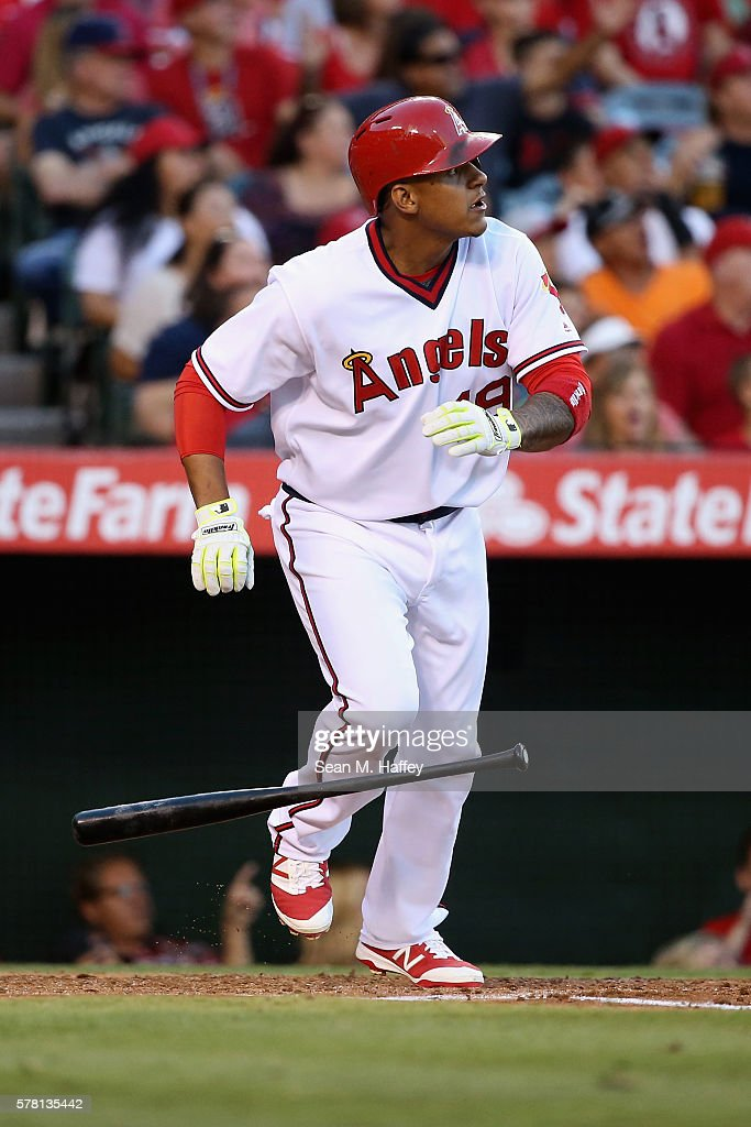 Jefry Marte 19 Of The Los Angeles Angels Anaheim Watches A Three Run