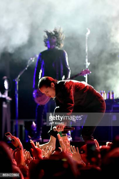 Jehnny Beth performs with Gorillaz on Downtown Stage during day 3 of the 2017 Life Is Beautiful Festival on September 24 2017 in Las Vegas Nevada