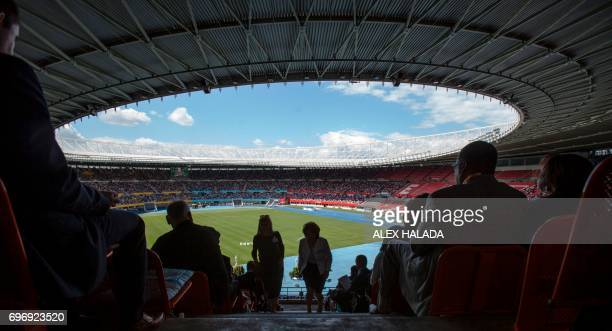 Jehovah's Witnesses attend a congress in the Ernst Happel Stadium in Austria Vienna on June 17 2017 About 30000 people from Austria Southern Germany...