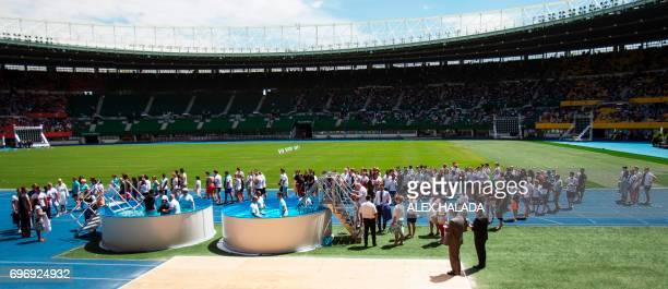 Jehovah's Witnesses Baptism takes place at a congress in the Ernst Happel Stadium in Austria Vienna on June 17 2017 About 30000 people from Austria...