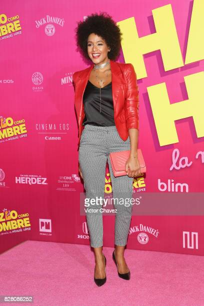 Jeimy Osorio attends the 'Hazlo Como Hombre' Mexico City premiere at Cinepolis Oasis Coyoacan on August 8 2017 in Mexico City Mexico