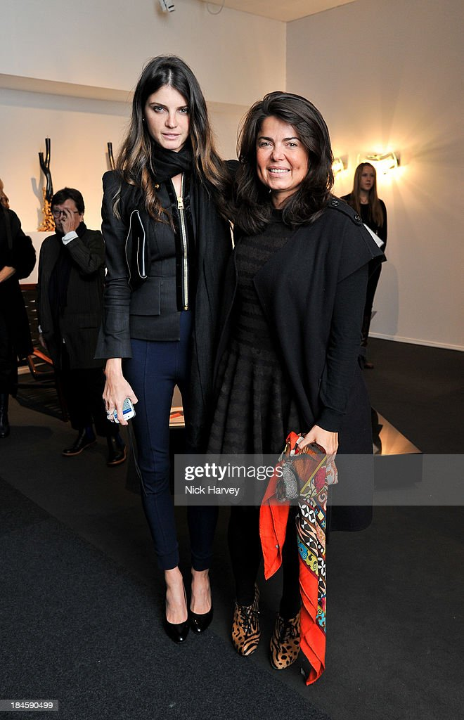 <a gi-track='captionPersonalityLinkClicked' href=/galleries/search?phrase=Jeisa+Chiminazzo&family=editorial&specificpeople=224568 ng-click='$event.stopPropagation()'>Jeisa Chiminazzo</a> and Daniella Helayel attend the collectors preview for PAD London at Berkeley Square Gardens on October 14, 2013 in London, England.
