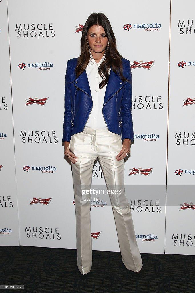 Jeisa Chiminazzo attends the 'Muscle Shoals' New York screening at Landmark Sunshine Cinemas on September 19, 2013 in New York City.