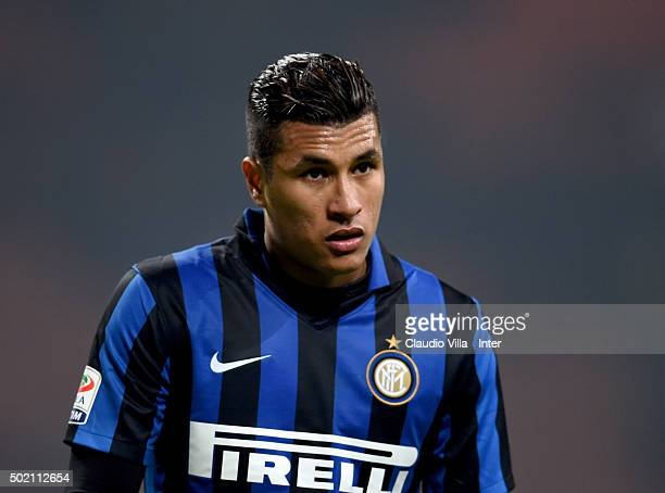 Jeison Murillo of FC Internazionale dejected at the end of the Serie A match between FC Internazionale Milano and SS Lazio at Stadio Giuseppe Meazza...
