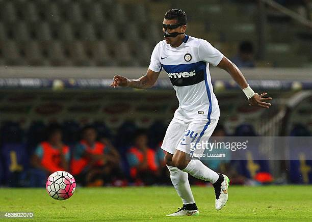 Jeison Murillo of FC Internazionale in action during the preseason friendly match between FC Internazionale and Athletic Club Bilbao at Stadio Ennio...
