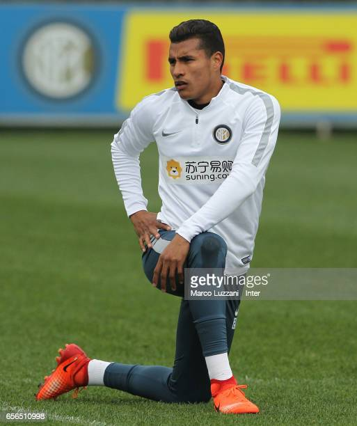 Jeison Murillo of FC Internazionale Milano trains during the FC Internazionale training session at the club's training ground Suning Training Center...